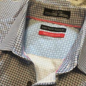 Unique Saks Fifth Avenue 16.5 trim men's shirt